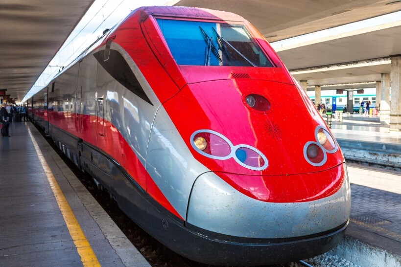 Frecciargento - visiting Italy by train